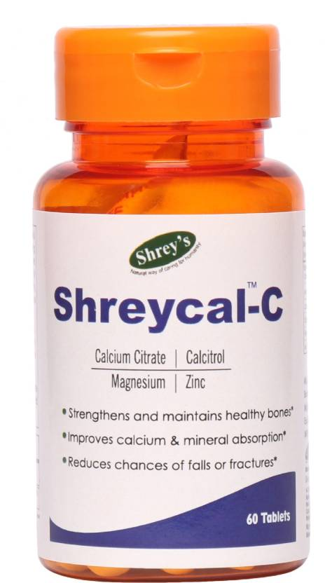 Shrey S Shreycal C Calcium Magnesium Zinc 60 Tablets For