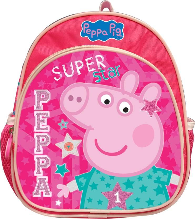 My Baby Excel Peppa 10 inch Bag School Bag (Multicolor 42afaeaf1f0c1