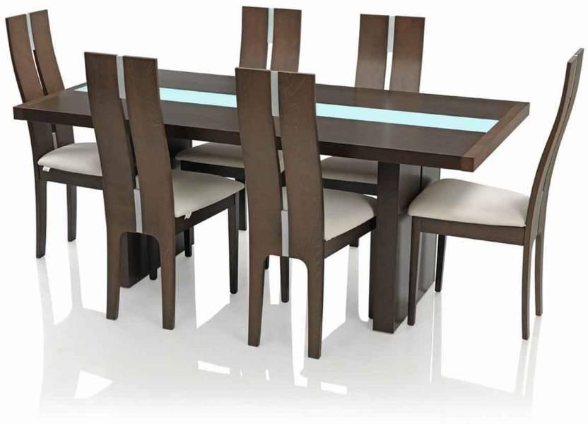 Royaloak Daffodil Glass 6 Seater Dining Set