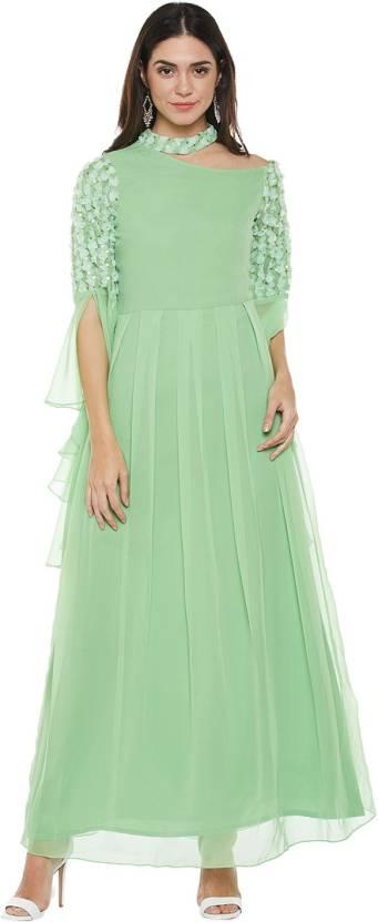 e9065505f9 Athena Women's Maxi Light Green Dress - Buy Athena Women's Maxi ...