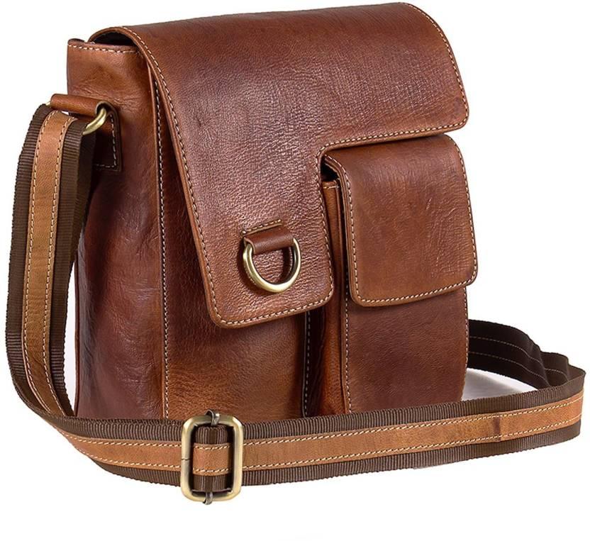 b665ea4f3 Goatter Boys & Girls Brown Genuine Leather Messenger Bag Brown - Price in  India | Flipkart.com
