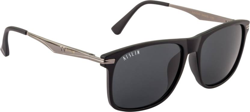 a8bbb75d56d Buy Aislin Wayfarer Sunglasses Black For Men Online   Best Prices in ...