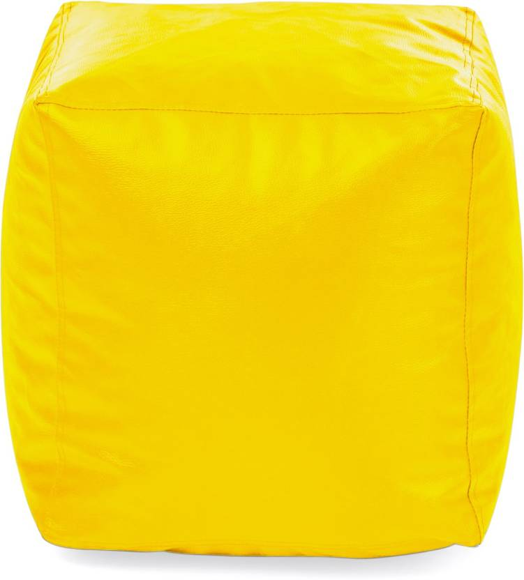 Style Homez Large Chair Bean Bag Cover  Without Beans  Yellow