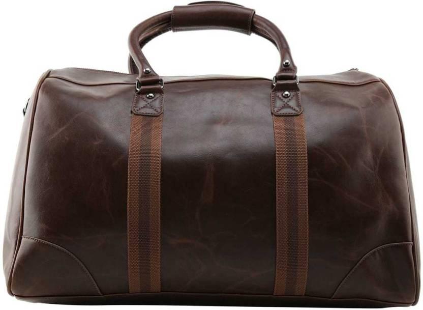 202c042bedd ALDO RORETO Travel Duffel Bag Dark Brown - Price in India