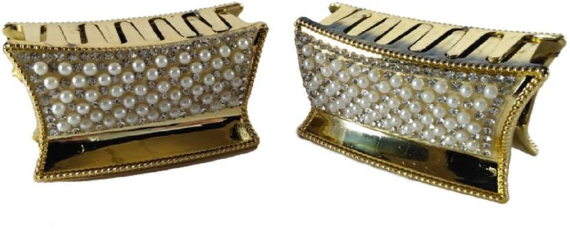 dline alice trendz gold color with dimond and pearl hair clutches and hair  claws for girls d6aaad0d8d7a5
