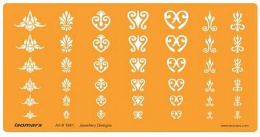 Isomars 1941 J Jewelry Design Template Price in India - Buy