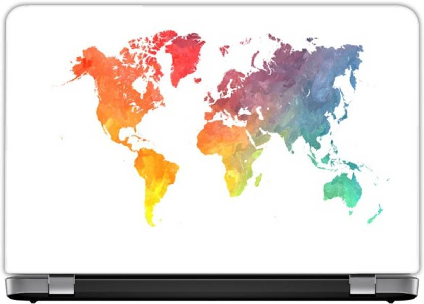 Elmax India Cool World Map Laptop Skins Vinyl Laptop Decal 17