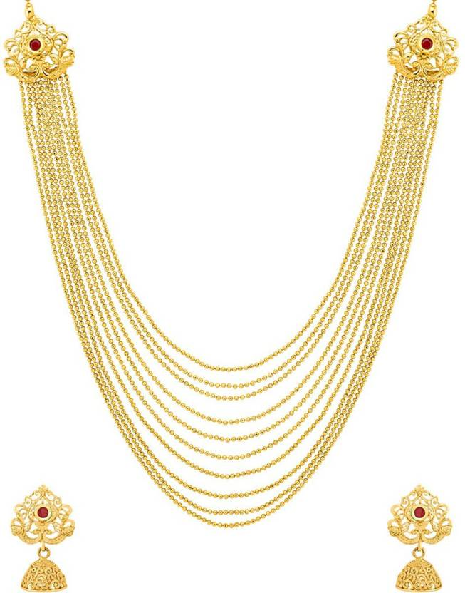 a28b4a646489d Voylla Gold-plated Plated Brass Necklace Set Price in India - Buy ...