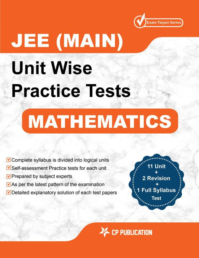 JEE Main Maths - Unit Wise Practice Test Papers By Career Point Kota ...
