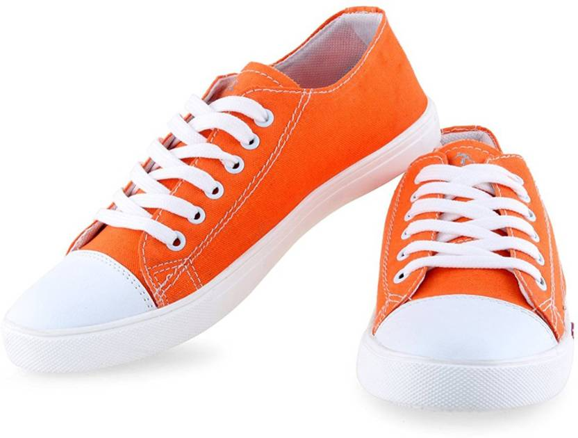 NYN Canvas Shoes For Men - Buy Orange Color NYN Canvas Shoes For ...