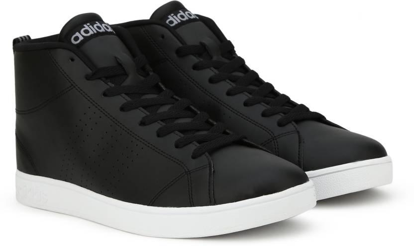 adidas neo vantaggio cl metà scarpe per gli uomini comprano cblack / cblack