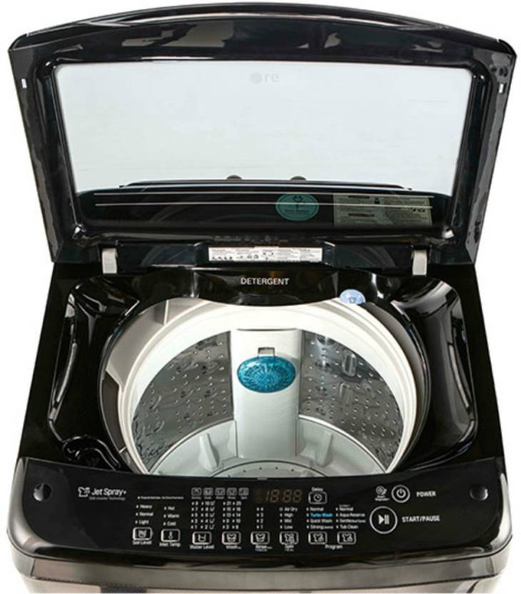 LG 6.5 L Fully Automatic Top Load Washing Machine Black   T7577NEDLK  LG Washing Machines
