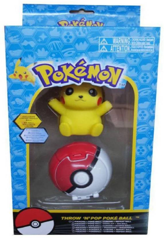 Assemble Pokemon Pokeball Toy With Real Pokeballs That Pop Open And Release Action Figures