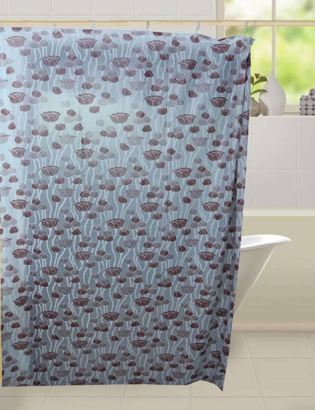 Kuber Industries 210 Cm 7 Ft PVC Shower Curtain Single