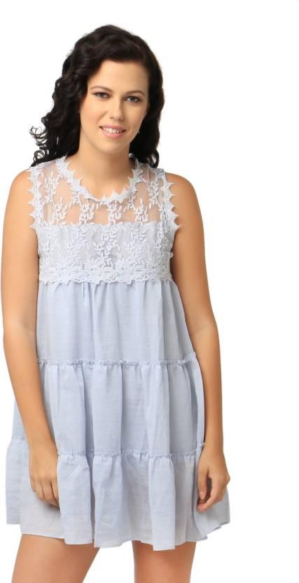 d9da4377afc8 Remanika Women s A-line Grey Dress - Buy Grey Remanika Women s A-line Grey  Dress Online at Best Prices in India
