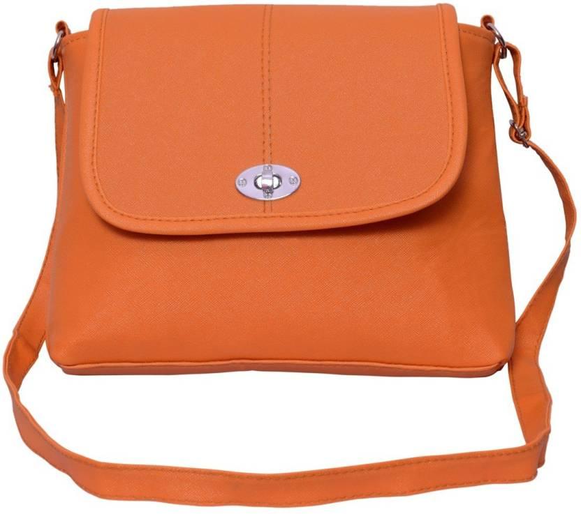 22ddb70ba84f Buy mk alisha Sling Bag Orange Online @ Best Price in India ...