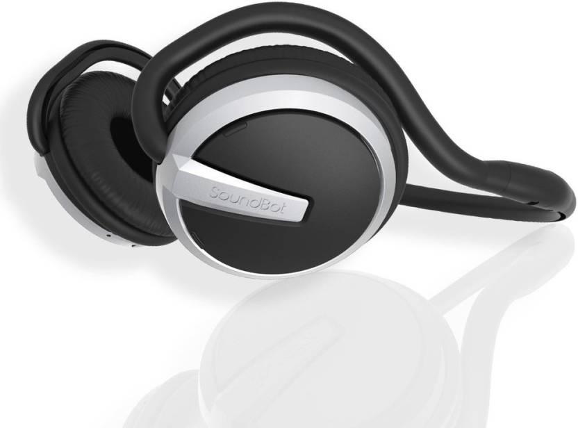d344c58569a SoundBot SB221 Grey Wireless Bluetooth Bluetooth Headset with Mic (Grey/ Black, Over the Ear)