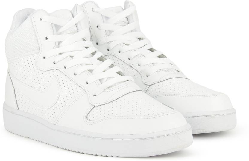 newest collection 63352 7ff6e Nike COURT BOROUGH MID Basketball Shoes For Men (White)