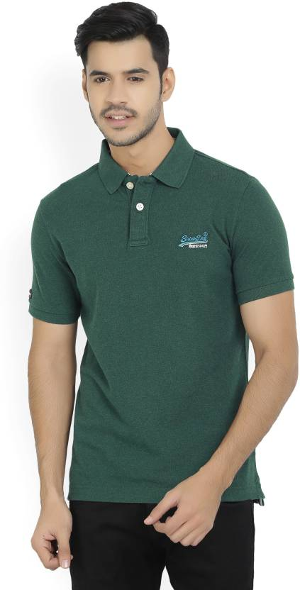 1e224f49 Superdry Solid Men's Polo Neck Dark Green T-Shirt - Buy Dark Green Superdry  Solid Men's Polo Neck Dark Green T-Shirt Online at Best Prices in India ...