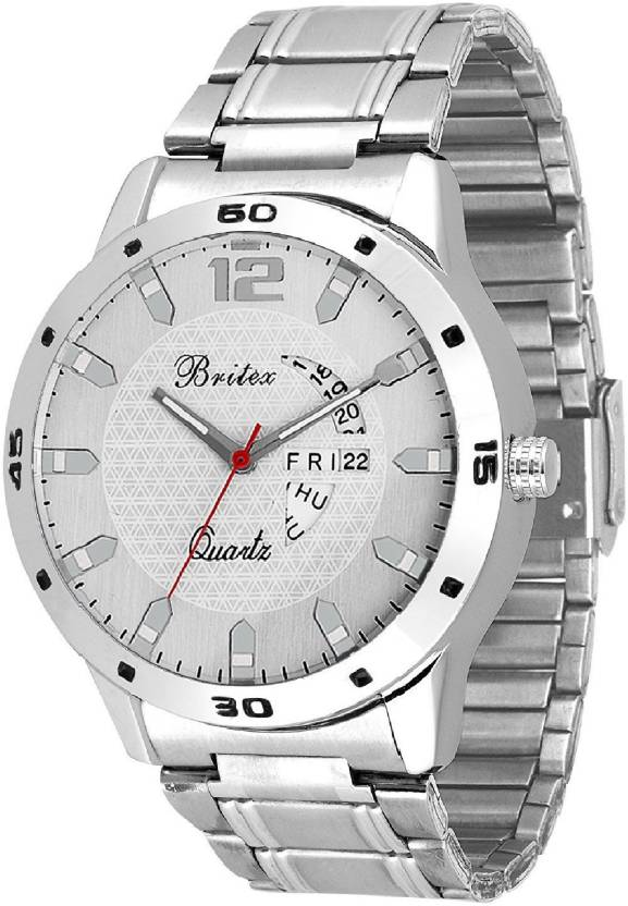 Britex BT6202 Free Size Day and Date Functioning Watch - For Men