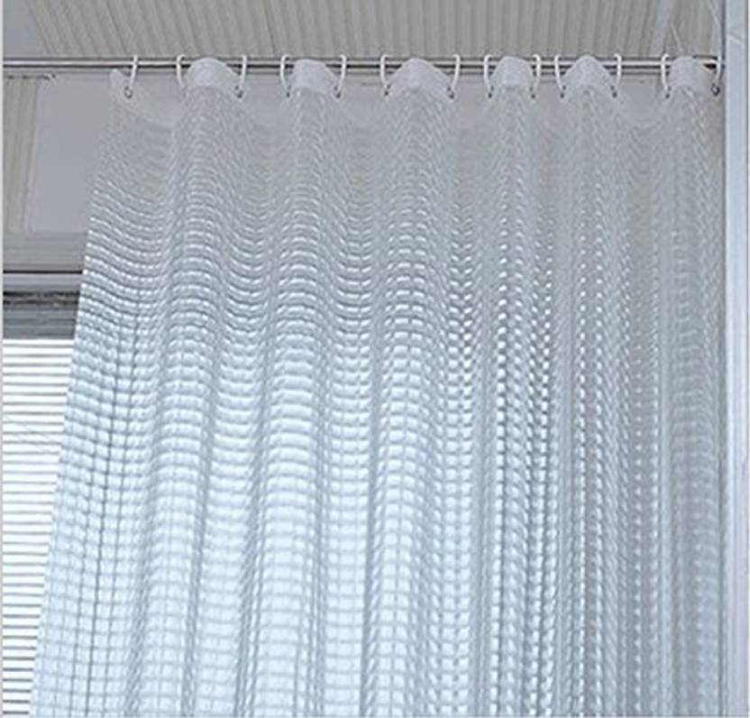 Yellow Weaves 84 Cm 3 Ft PVC Shower Curtain Single