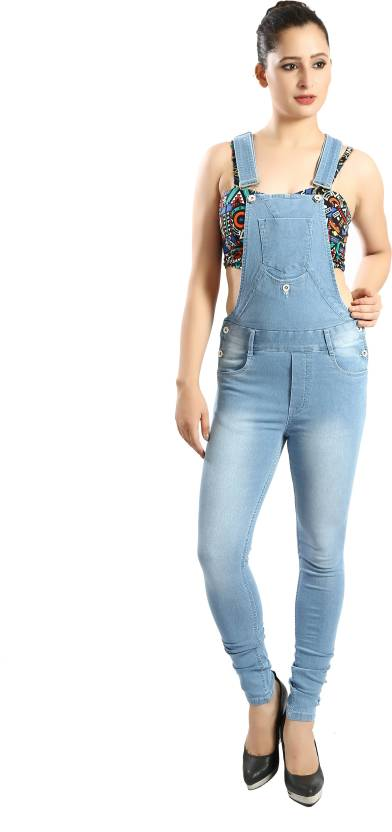 c911854b370f Fck-3 Women s Light Blue Dungaree - Buy Fck-3 Women s Light Blue Dungaree  Online at Best Prices in India