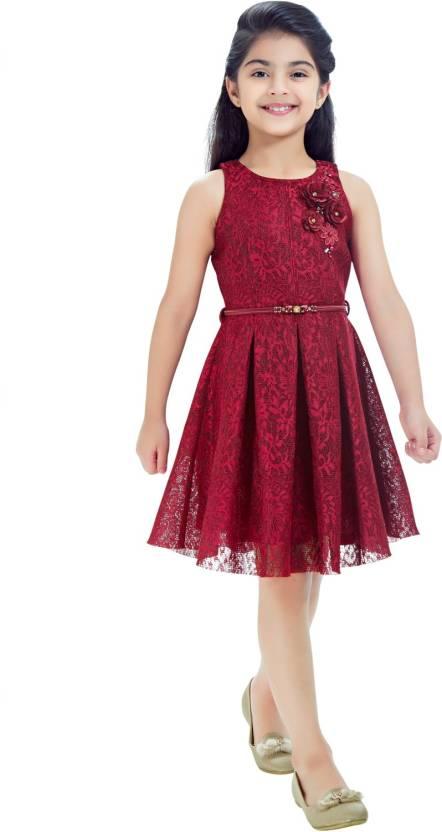 20aa348fa2458 Tiny Baby Girls Midi/Knee Length Casual Dress Price in India - Buy ...