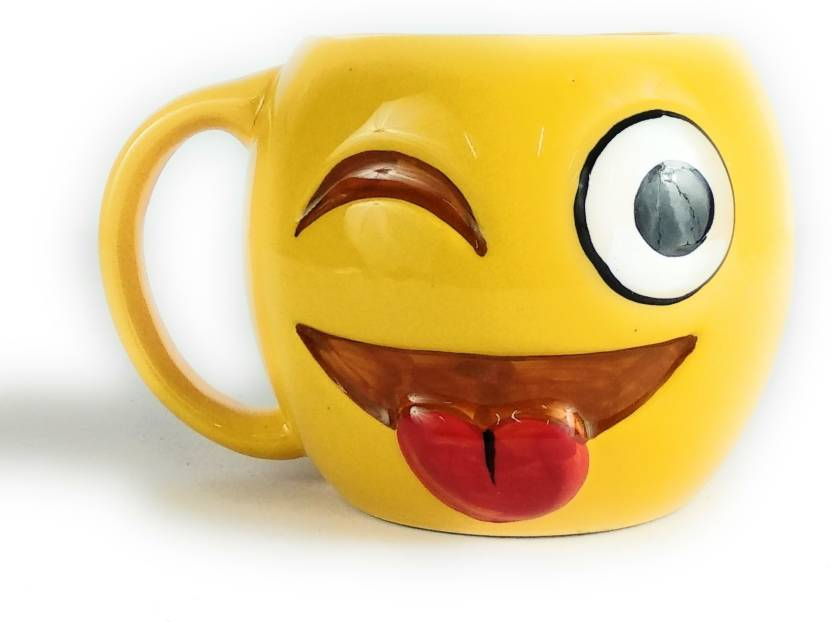 Premium Gifting Coffee Mug For Quality Ceramic Wolf Smiley Weird Handcrafted uXTwkOiPZ