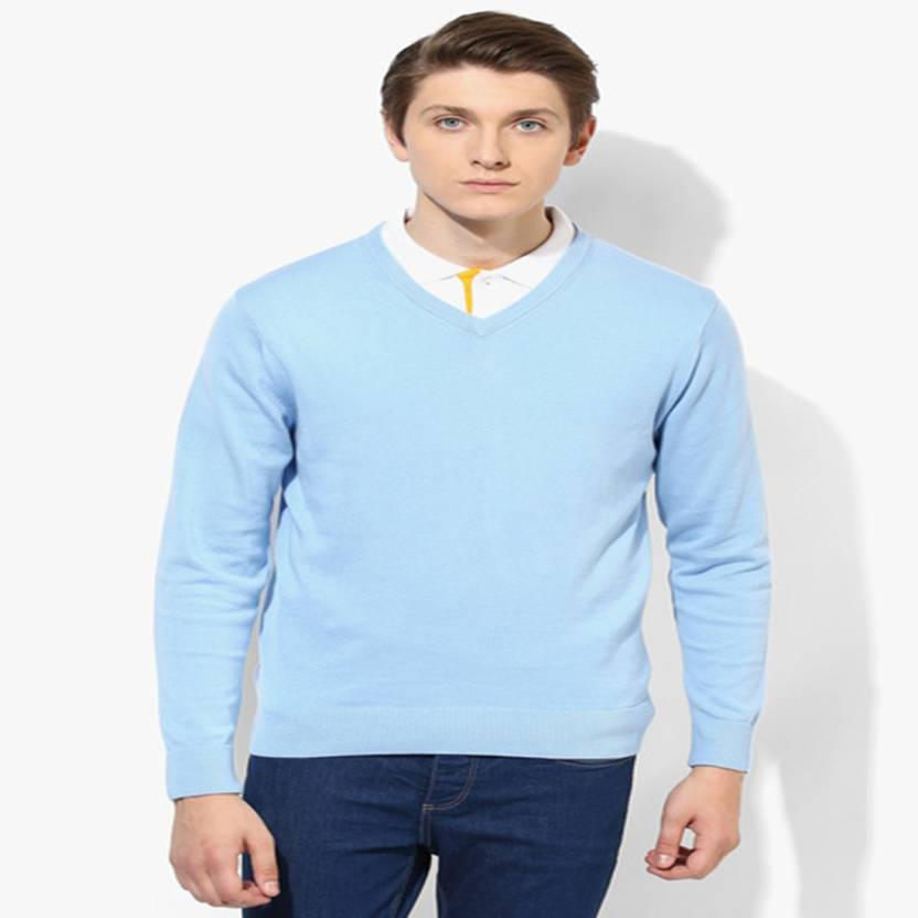 d11dd23ee42 HEALTH FIT INDIA Solid V-neck Formal Men s Light Blue Sweater - Buy HEALTH  FIT INDIA Solid V-neck Formal Men s Light Blue Sweater Online at Best  Prices in ...