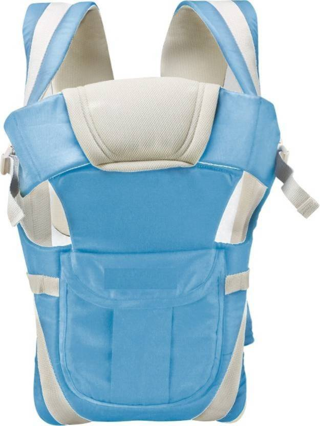 Honey bee Adjustable Hands-Free 4-in-1 Baby Carrier with Comfortable Head Support & Buckle Straps Baby Carrier  (Sky Blue, Front carry facing out)
