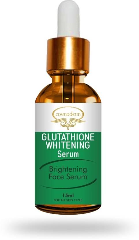 cosmoderm Glutathione Skin whitening Fairness Gluta Serum with Hyaluronic  Acid & Vitamin C Pigmentation & Wrinkle Removal