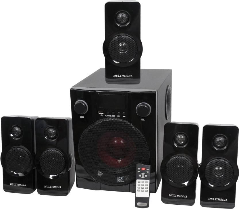 Barry John BJ-5.1-HT-BUA Wooden/Plastic Multimedia Speakers System (Black) 5.1 Home Cinema, Soundbar  (Home Theater)