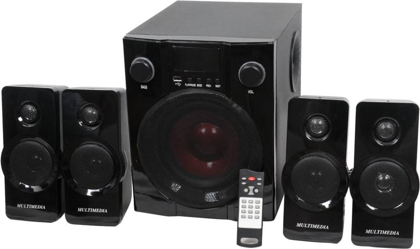 Barry John BJ-4.1-HT-BUA Wooden/Plastic Multimedia Speakers System (Black) 4.1 Tower Speaker  (Home Theater)