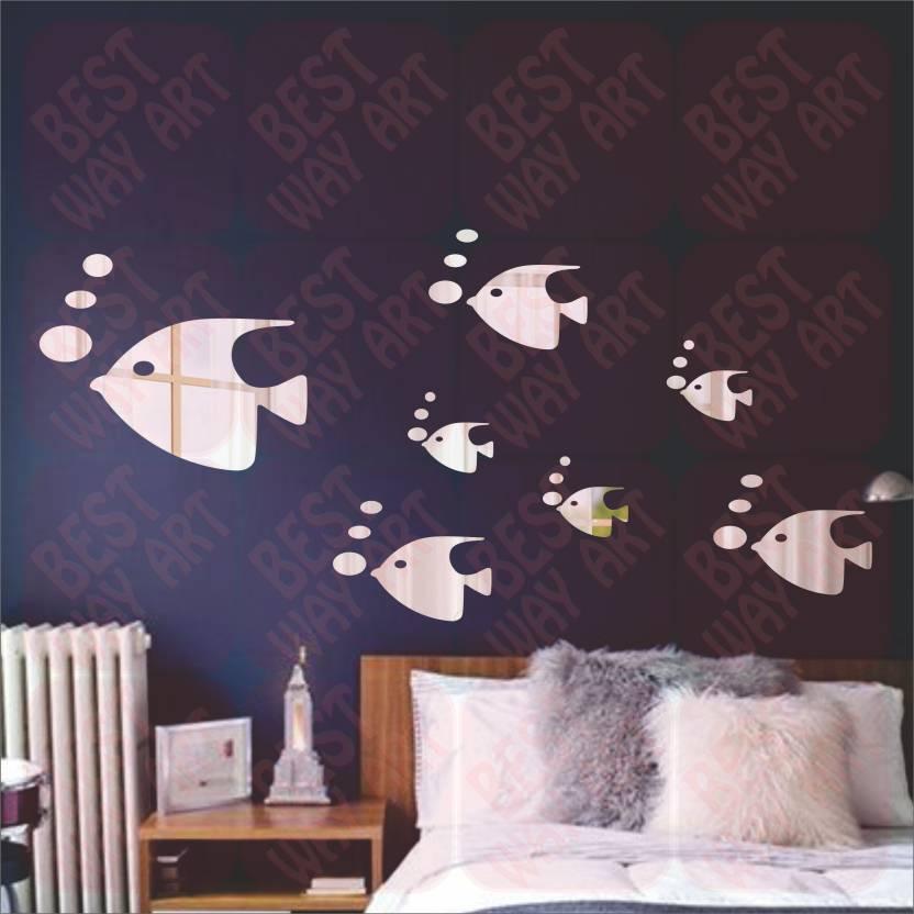 best decor large 3d acrylic sticker price in india - buy best decor