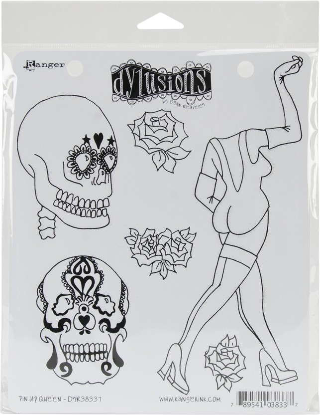 8.5 by 7-Inch Which Way Up Ranger Dyan Reaveleys Dylusions Cling Stamp Collections