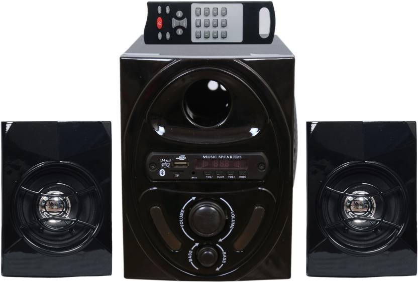 Barry John BJ-2.1HT_New-B Wooden/Plastic Multimedia Speakers System (Black) 2.1 Home Cinema  (Home Theater)
