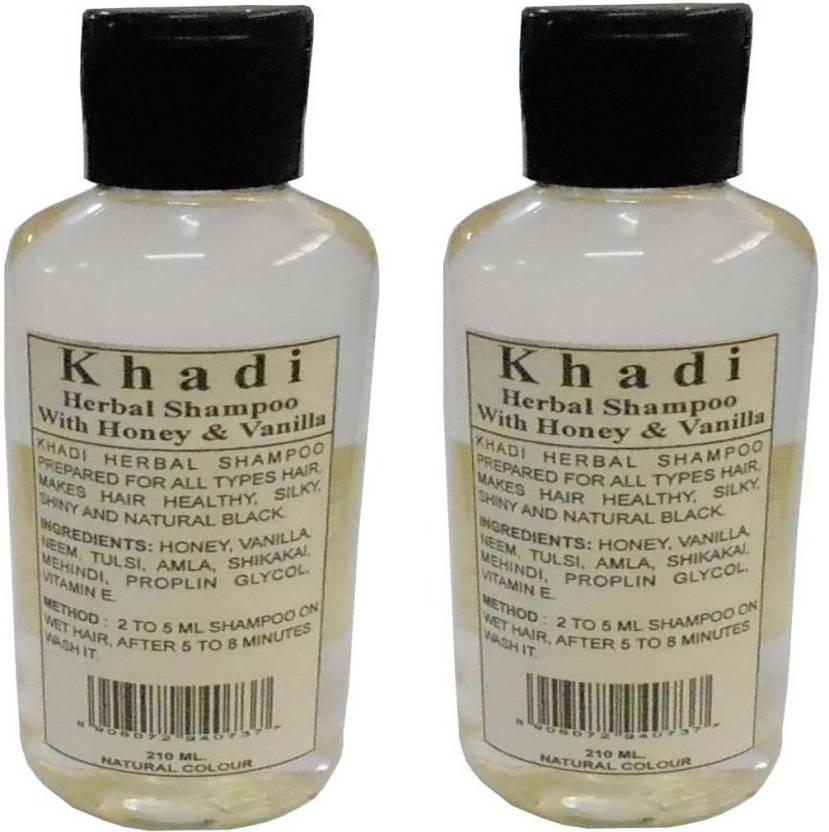 Khadi Herbal honey & vanilla shampoo 420ml (pack of 2