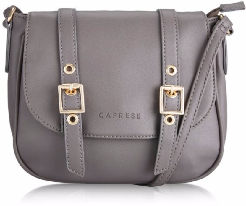 8036d9963e Caprese Women Casual Grey Leatherette Sling Bag Grey - Price in India |  Flipkart.com