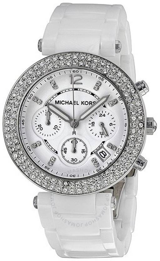 976d26039 Michael Kors MK5654 Parker White Ceramic Watch - For Women - Buy Michael  Kors MK5654 Parker White Ceramic Watch - For Women MK5654 Parker White  Ceramic ...