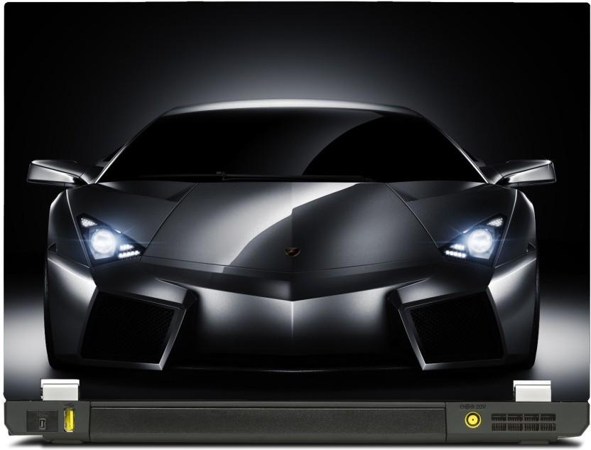 SkinShack Lamborghini Headlights Supercar Cars (14.1 Inch) Vinyl Laptop  Decal 14.1