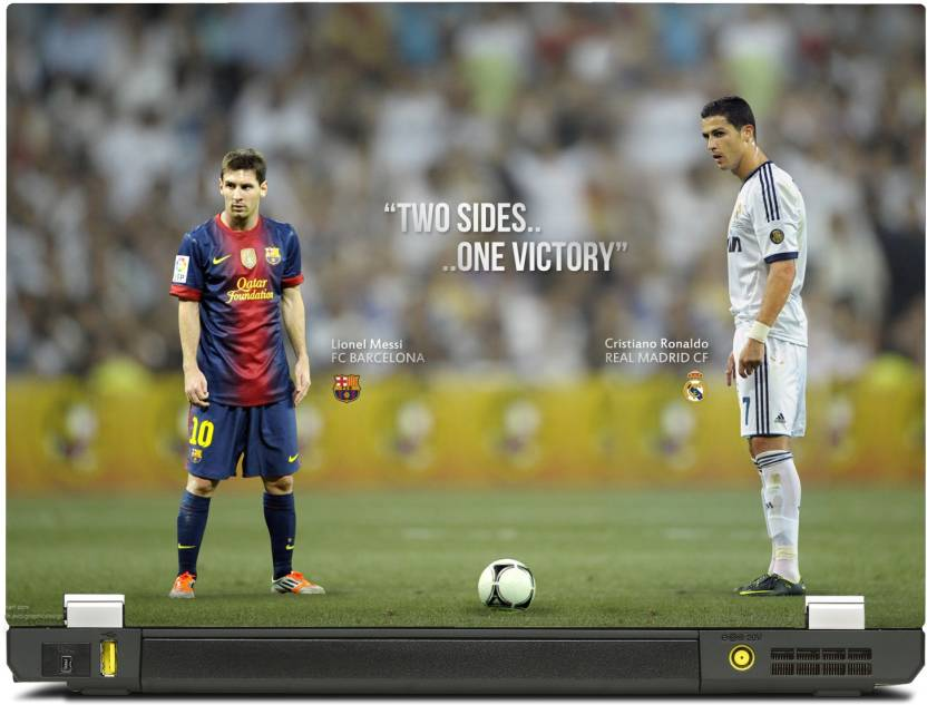 SkinShack New 3D Lionel Messi and Cristiano Ronaldo - Two Sides and One  Victory (12.1 inch) Vinyl Laptop Decal 12.1 Price in India - Buy SkinShack  New 3D ... 05afe475a
