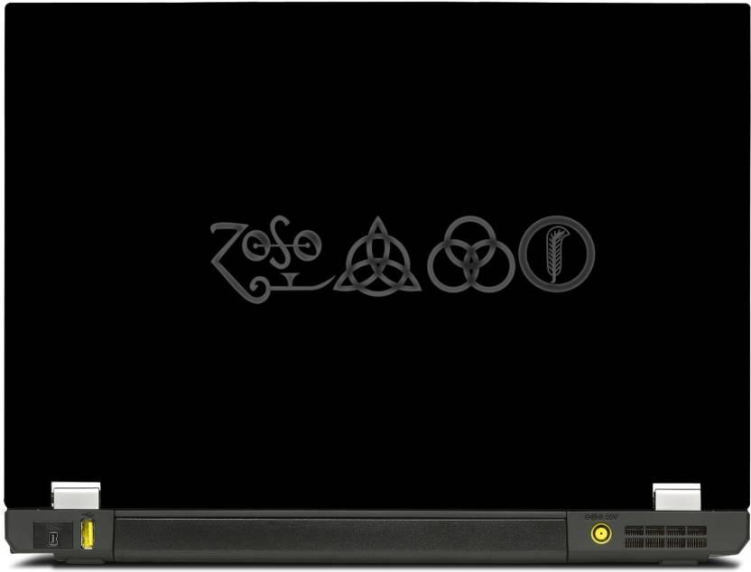 Skinshack New 3d Led Zeppelin Symbols 141 Inch Vinyl Laptop Decal