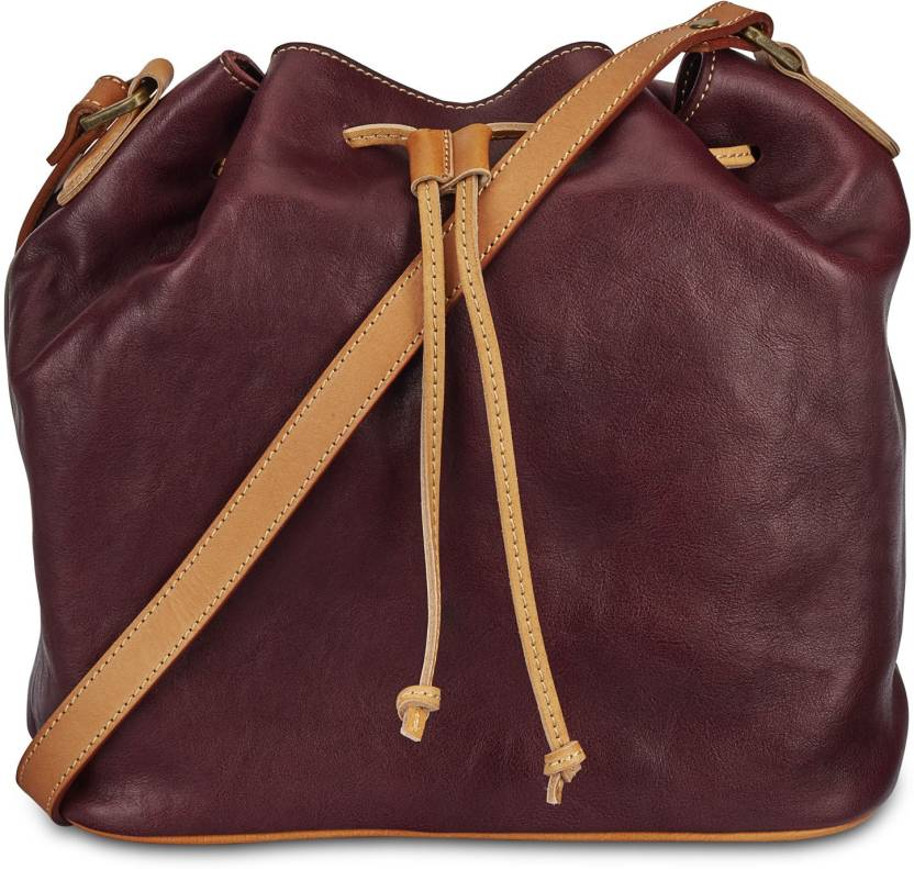 aaf762e0b6d9 Rohit Bal Women Casual Brown Genuine Leather Sling Bag Brown - Price ...