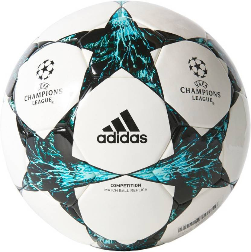 new product 5537f 219f1 ADIDAS Finale 17 Comp Football - Size 5 (Pack of 1, White, Blue)