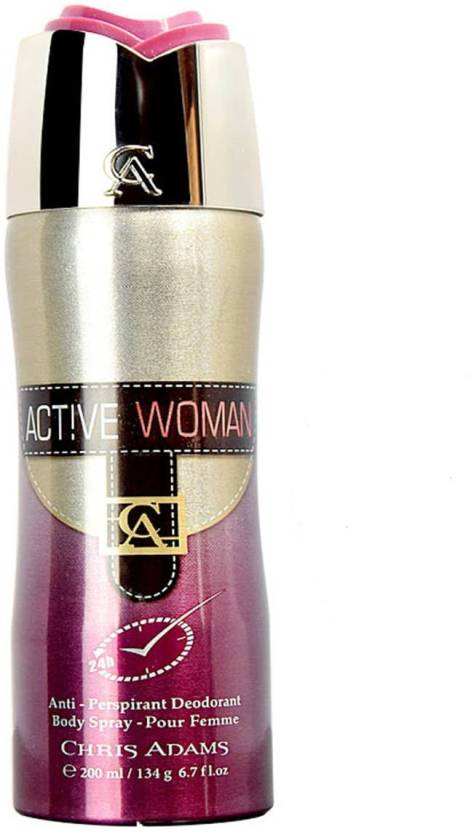 Chris Adams Active Woman Body Spray For Women Price In India