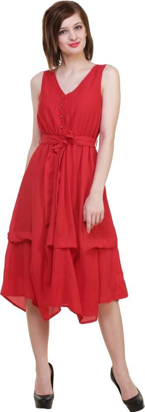 Hive91 Women Maxi Red Dress