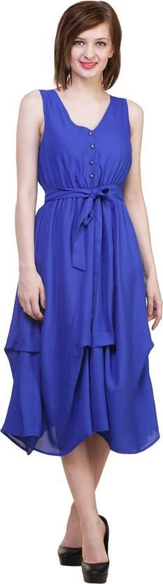 Hive91 Women Maxi Blue Dress