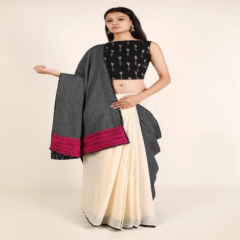 363d908ea5 Buy Tjori Hand Painted Fashion Cotton Grey Sarees Online @ Best ...