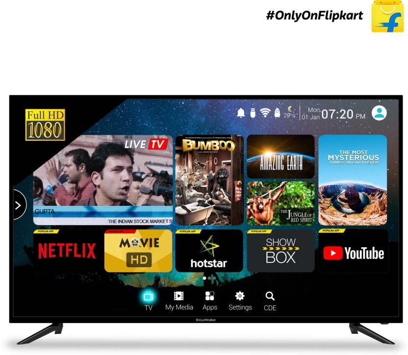 CloudWalker Cloud TV 127cm (50 inch) Full HD LED Smart (Cloud 50SF) Online at