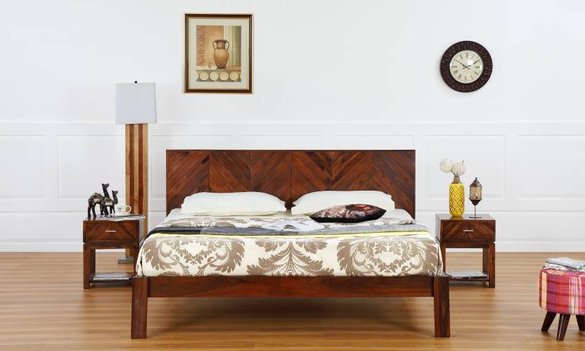 Furnspace Elegant King Size Bed Solid Wood King Bed Price In India
